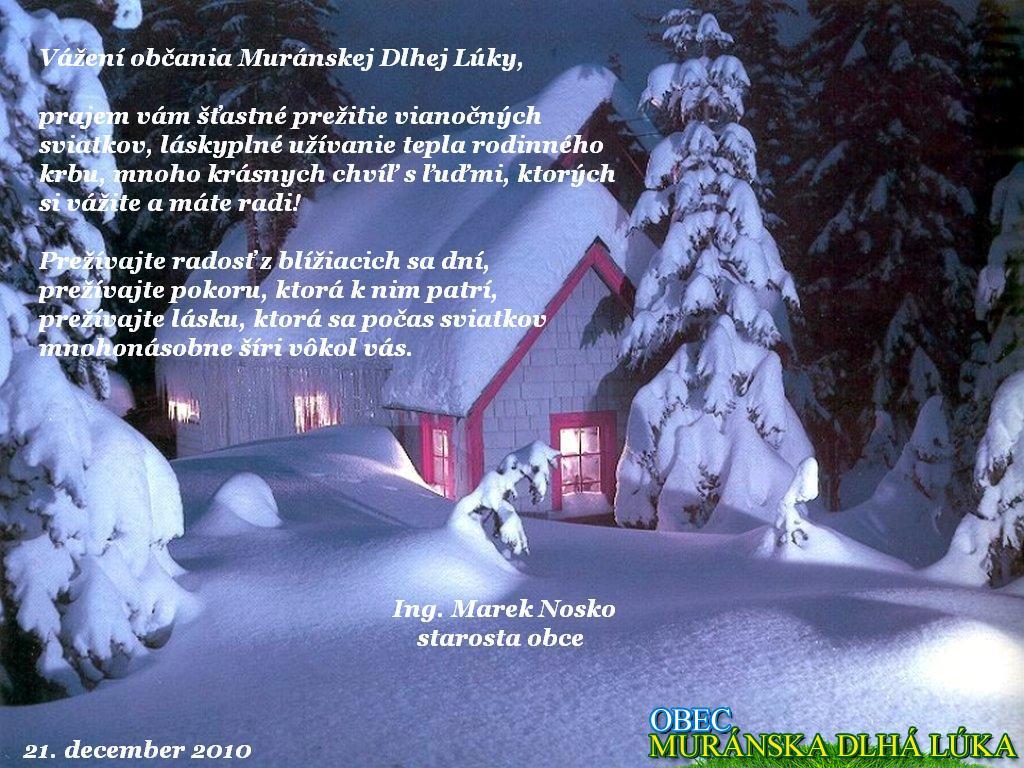 Galéria: starostovské vianočné prianie